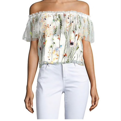 Lucy Paris Embroidered Blouse Sz: S