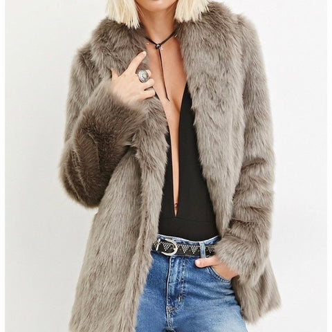 Forever 21 Faux Fur Coat Sz: M