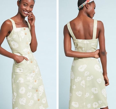 Anthropologie Sissa Daisy Days Denim Dress NWT Sz: 10