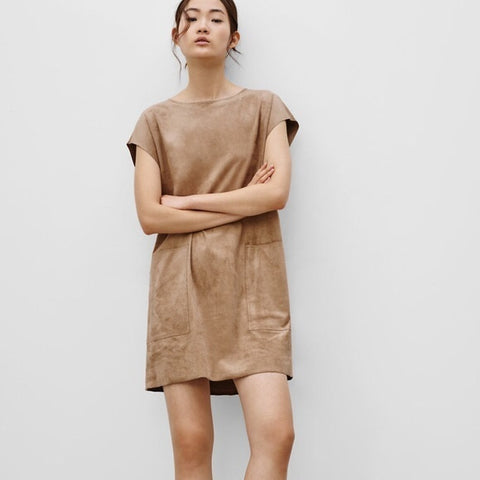Wilfed Free Nori Suede Dress Sz: S