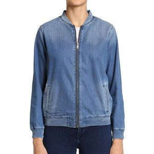Mavi Lily Denim Bomber Jacket Size: Small