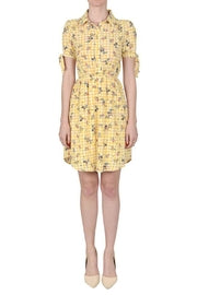 Monteau Yellow Floral Dress Sz L