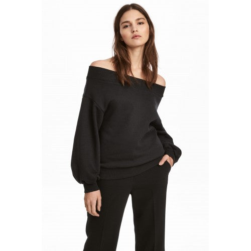 H&M Off Shoulder Sweatshirt Sz:M