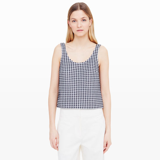 Club Monaco Gingham Top Sz: S