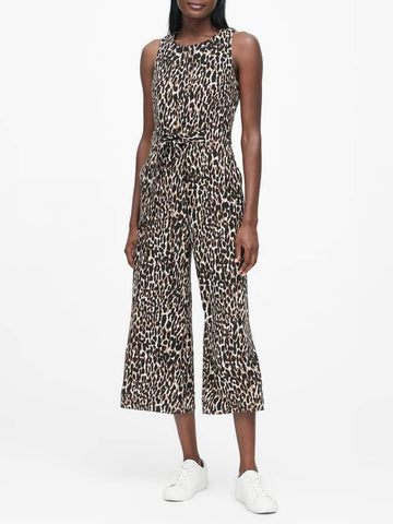 Banana Republic Animal Print Jumpsuit Sz: 2