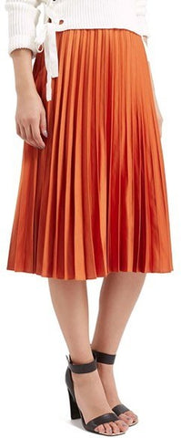 Topshop Orange Midi Skirt Sz. 8
