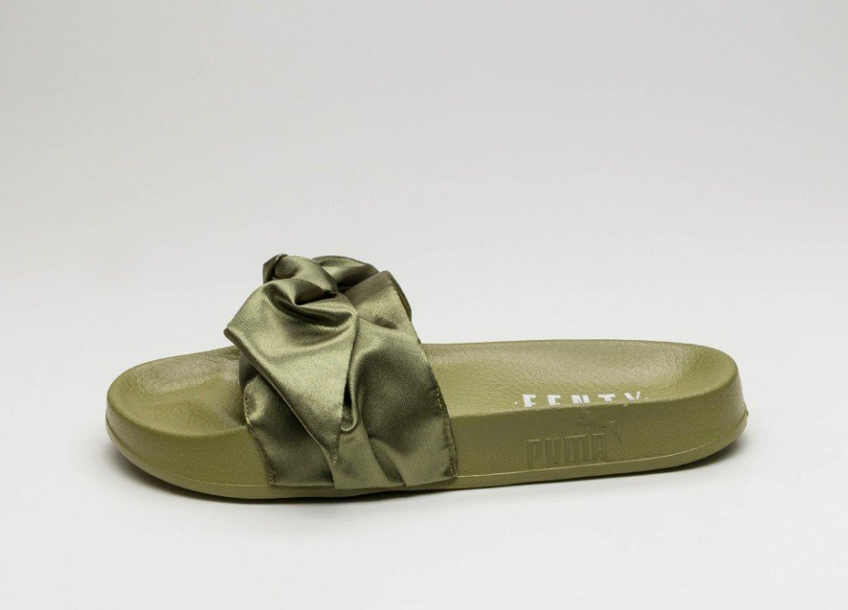 be173f7b3cec Puma Fenty Olive Bow Slides Sz. 9.5 – Peacock Boutique Consignment
