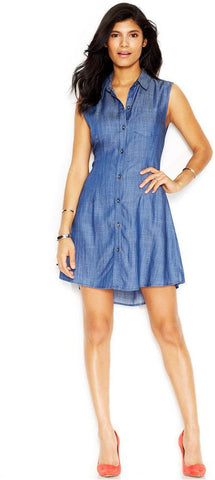 Rachel Roy Denim Cut Out Dress Sz: M