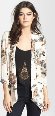 ASTR The Label Cream Floral Blazer Sz: S