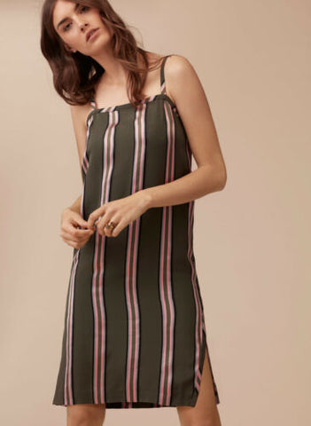 Wilfred Le Fou Striped Slip Dress Sz: 6