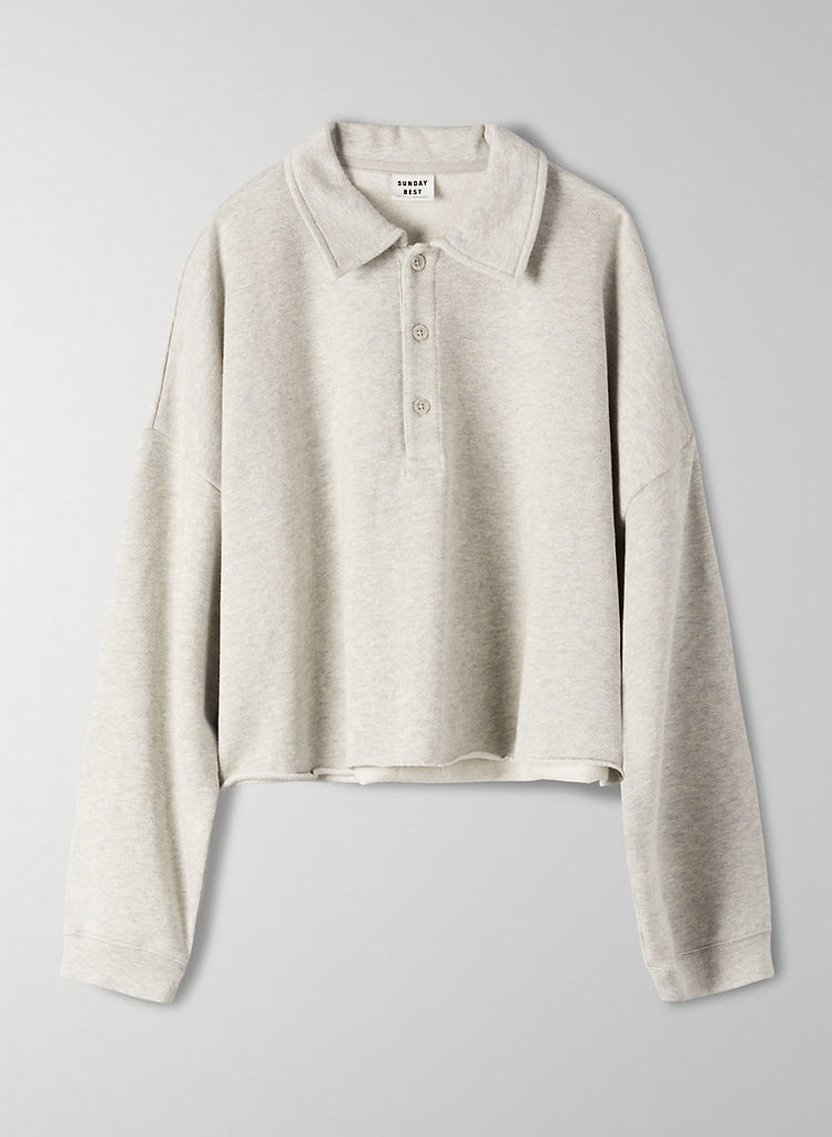 Sunday Best Cropped Fleece Pullover Sz. M