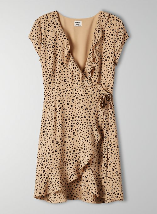Sunday Best Animal Print Wrap Dress Sz: 6