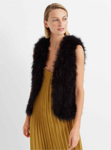 Club Monaco Feather Vest Sz: S