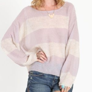 Free People Striped Mohair Sweater Sz: L