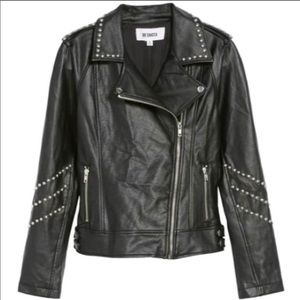 BB Dakota Jerilyn Studded Moto Jacket Sz: M