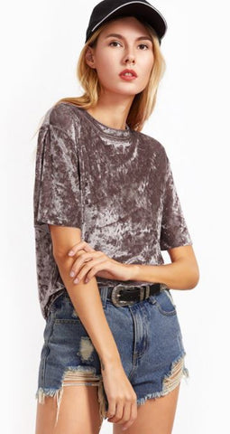 Shein Crushed Velvet Shirt Sz: L