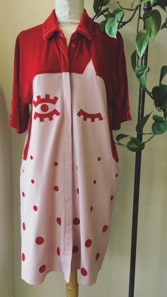 The White Pepper - Red and pink dress, Sz S