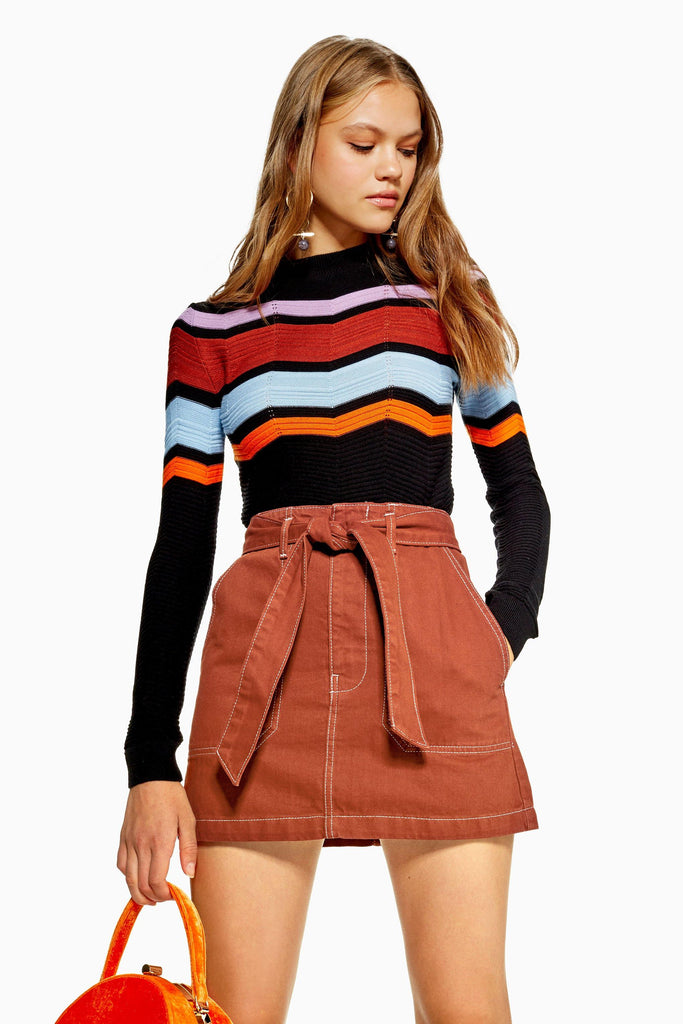 TopShop Rust Skirt Sz: 8 ON HOLD