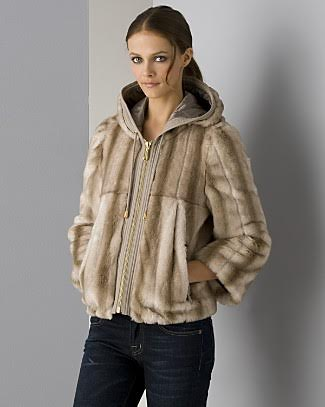 b356e579b247 Juicy Couture Hooded Faux Fur Jacket Sz S – Peacock Boutique Consignment