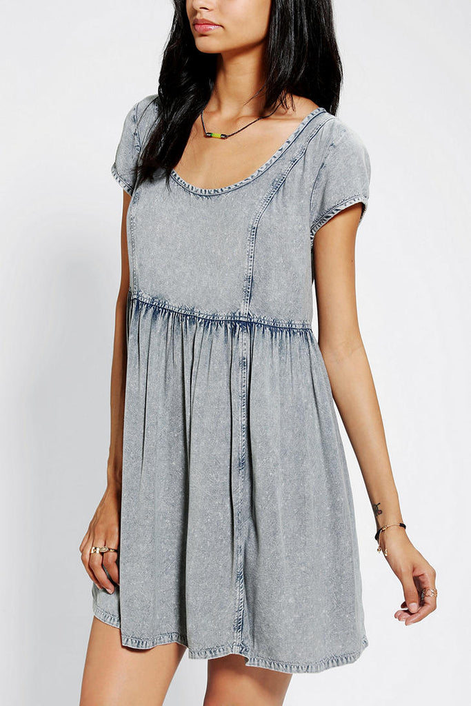 Ecote Acid Wash BabyDoll Dress Sz: S