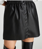 Zara Faux Leather Skirt Sz: S