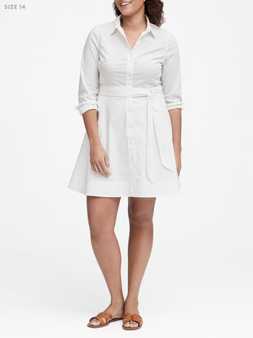 Banana Republic Poplin Shirtdress Sz: 14