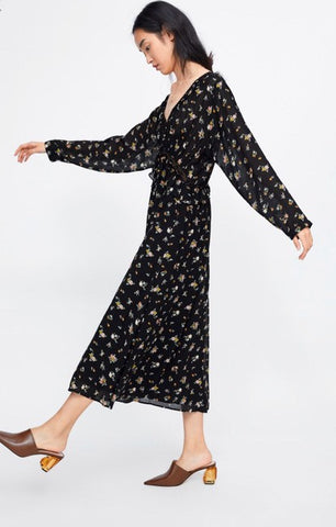 Zara Floral Maxi Dress Sz: M