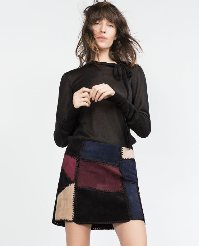 Zara Patchwork Skirt  Sz: M