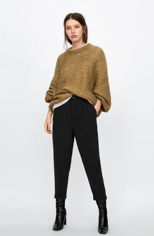 Zara Ankle Crop Trousers Sz: L NWT