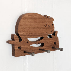 Oak Guinea Pig Key Hook - Everything Guinea Pig