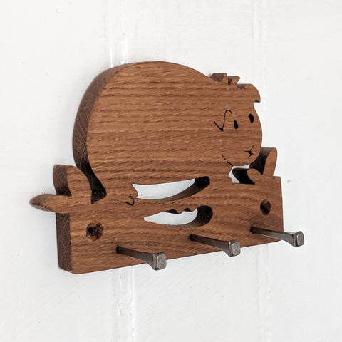 Oak Guinea Pig Key Hook
