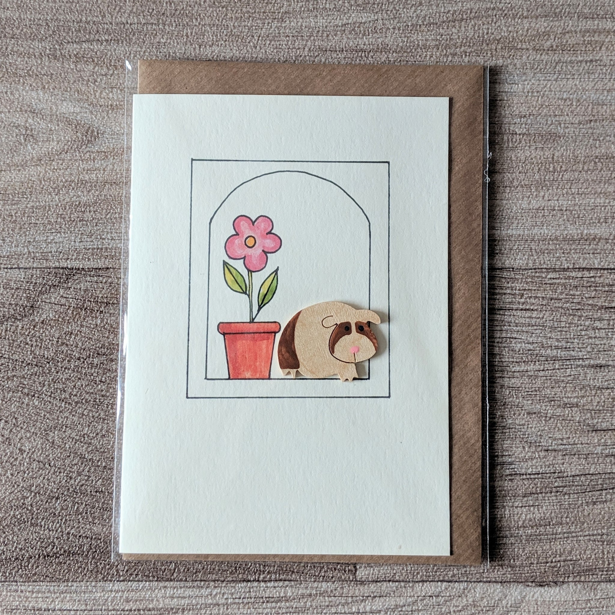 Guinea Pig Card (Brown) - Everything Guinea Pig