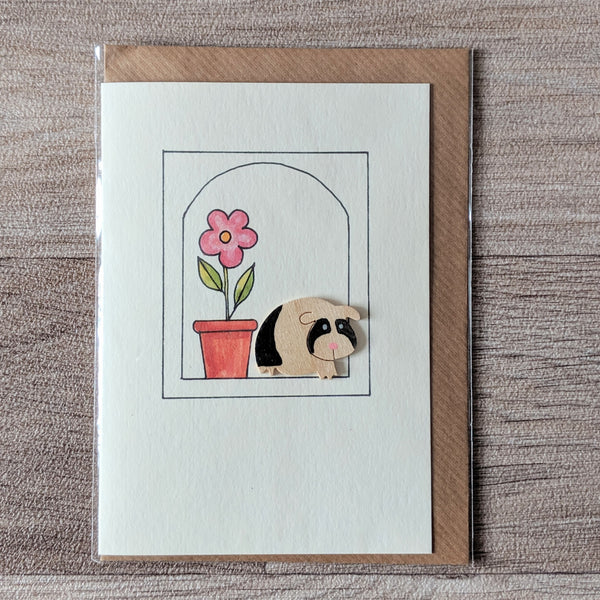Guinea Pig Card (Black) - Everything Guinea Pig
