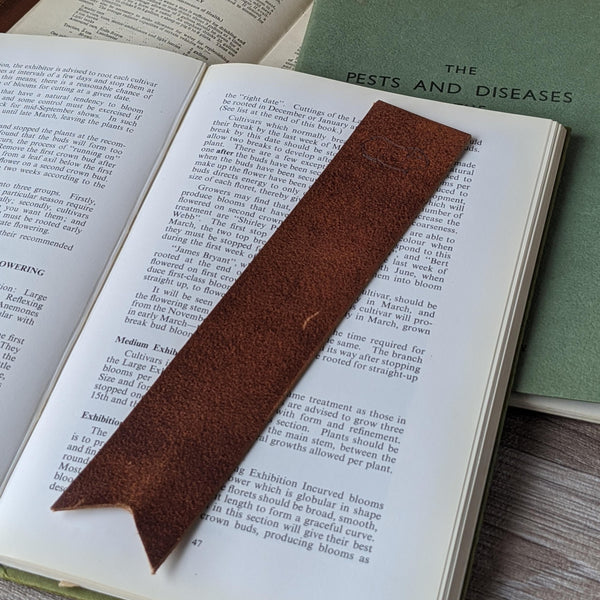 Guinea Pig Book Mark - Tan Leather - Everything Guinea Pig
