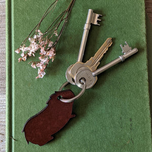 Leather Guinea Pig Key Ring - Everything Guinea Pig