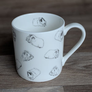 Guinea Pig Mug - Warm Grey Guinea Pig Wrap Around - Everything Guinea Pig