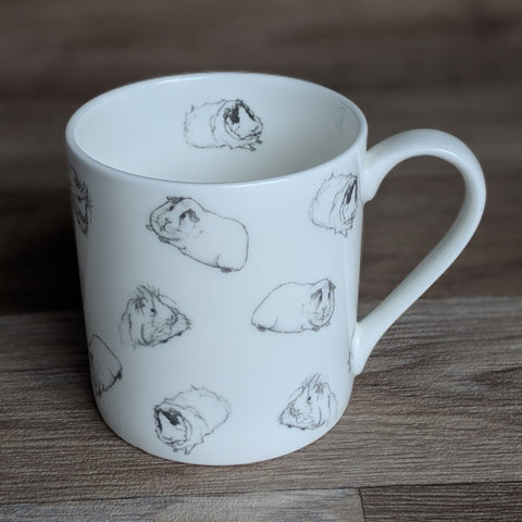 Guinea Pig Mug - Warm Grey Guinea Pig Wrap Around