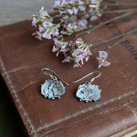 Guinea Pig Wire Earrings - Hand Cast Pewter