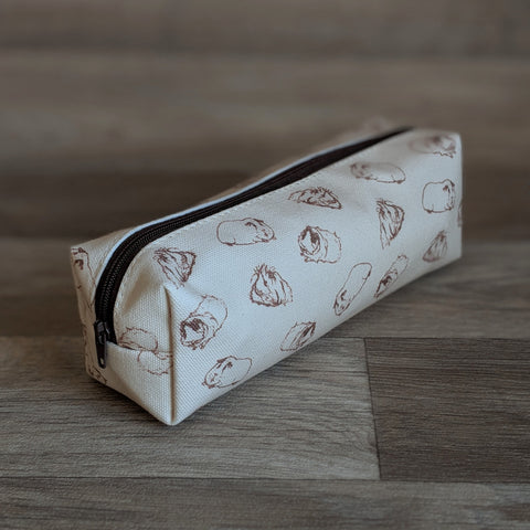 Guinea Pig Pencil Case - Sketched Guinea Pig Design - Everything Guinea Pig