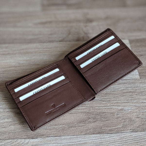Guinea Pig Wallet - Brown Leather [cards only] - Everything Guinea Pig