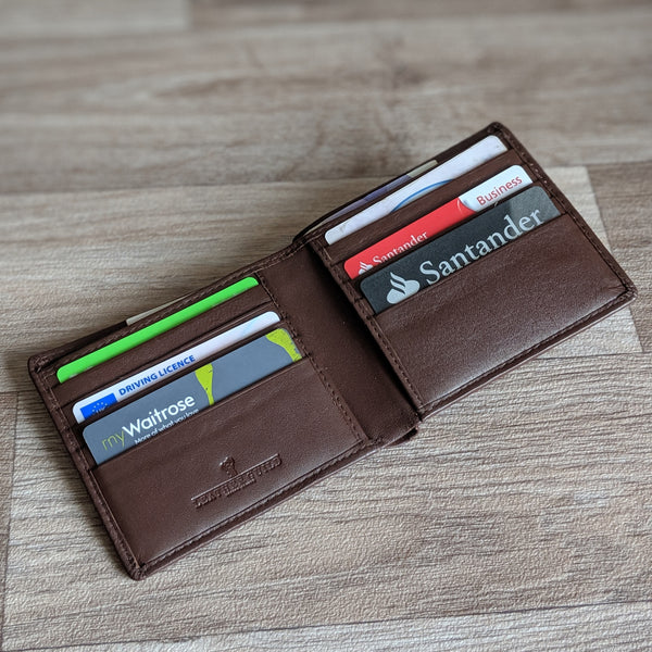 Guinea Pig Wallet - Brown Leather [cards only]
