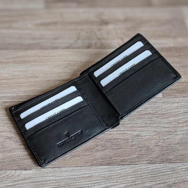 Guinea Pig Wallet - Black Leather [with coin purse]