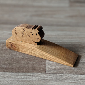 Oak Guinea Pig Door Wedge - Everything Guinea Pig