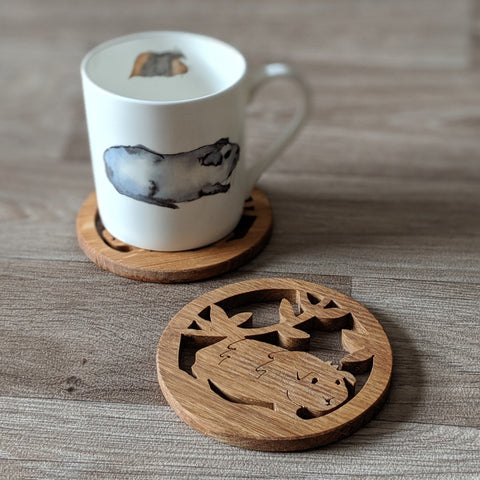 Oak Guinea Pig Coaster - Everything Guinea Pig