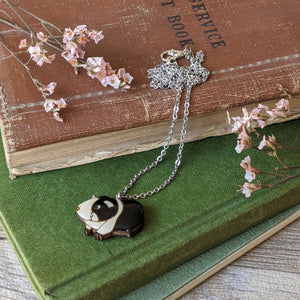 Guinea Pig Necklace - Black/White