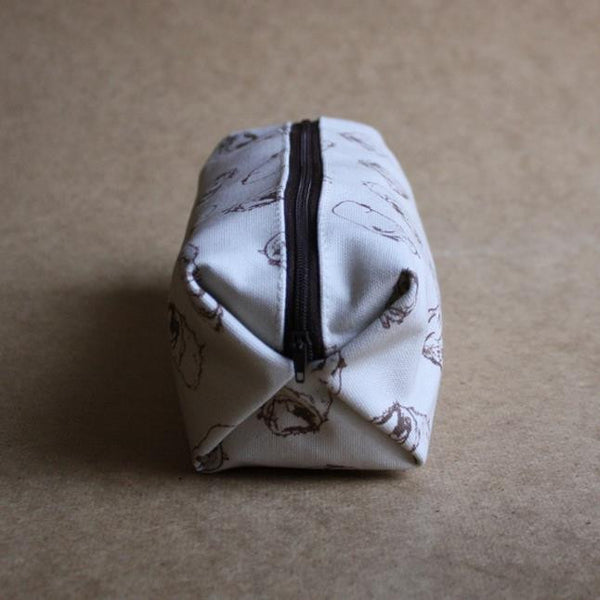 Guinea Pig Make Up Bag - Sketched Guinea Pig Design - Everything Guinea Pig