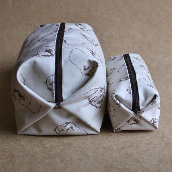 Guinea Pig Wash Bag - Sketched Guinea Pig Design - Everything Guinea Pig
