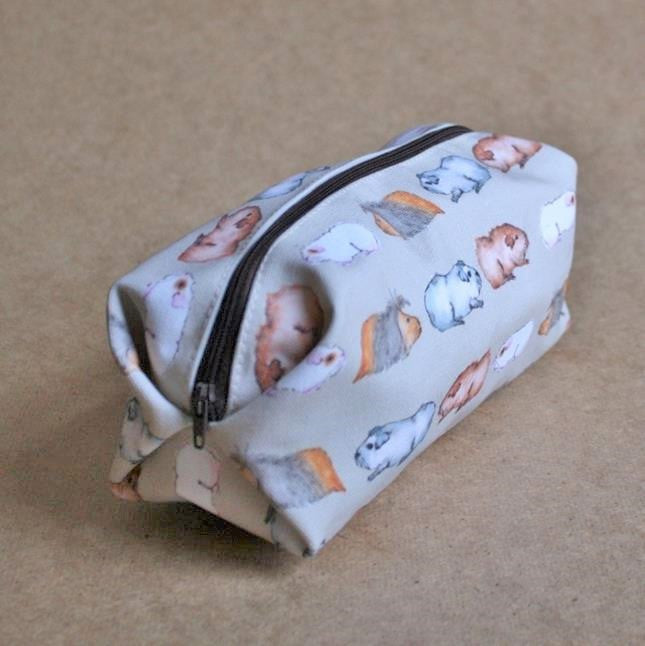 Guinea Pig Make Up Bag - Water Colour Guinea Pig Design - Everything Guinea Pig