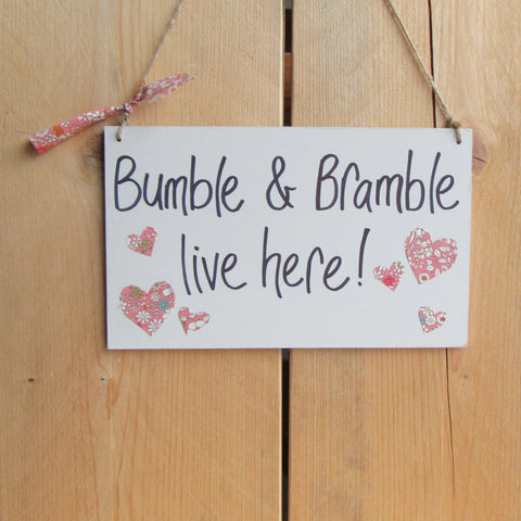 Personalised Handmade Hanging Wooden Guinea Pig Saying Sign