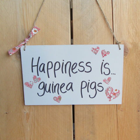 Handmade Hanging Wooden Saying Sign - Everything Guinea Pig